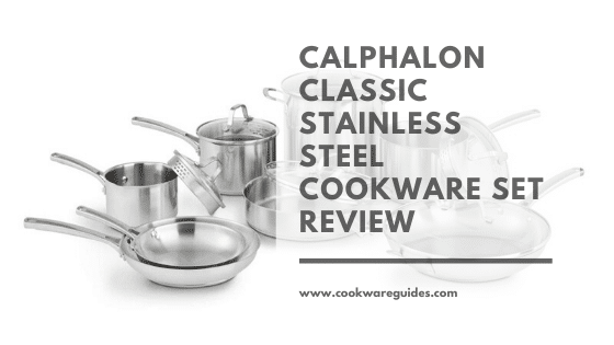 calphalon classic stainless steel cookware set 10 piece
